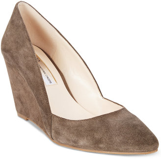 INC International Concepts Zarie Suede Wedge Pumps, Only at Macy's $79.50 thestylecure.com