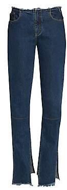 Marques Almeida Marques'Almeida Women's Slim-Fit Split Hem Jeans