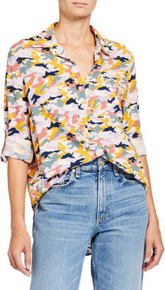 Velvet Heart Elisa Camo-Print Button-Down Shirt