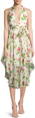 Milly Angie Floral-Print Chiffon Dress