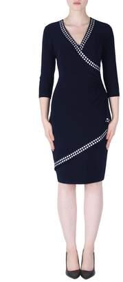 Joseph Ribkoff Blue Faux Wrap Dress