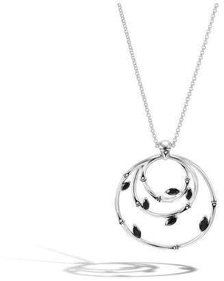 John Hardy Pendant Necklace With Black Spinel