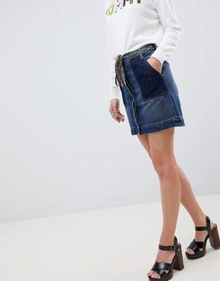 Tommy Hilfiger Skirt With Hiker Lace Belt