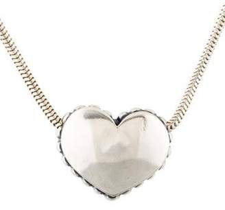 Lagos Caviar Heart Pendant Necklace