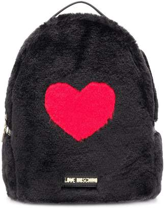 Love Moschino faux fur heart backpack