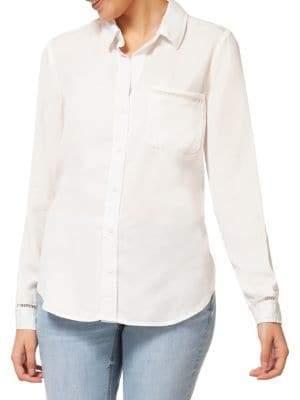 Dex Cut-Out Button-Down Shirt