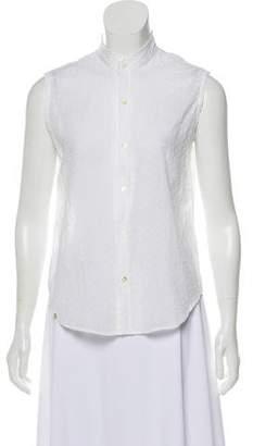 p.s.Shirt Sleeveless Button-Up Top