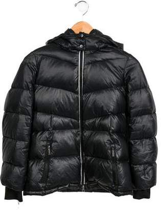 ADD Boys' Hooded Quilted Jacket