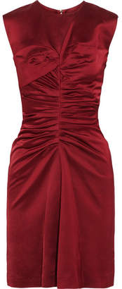 Isabel Marant Esta Ruched Satin Dress - Merlot