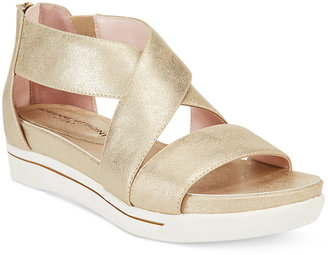 Adrienne Vittadini Claud Sport Flatform Sandals Women's Shoes $79 thestylecure.com
