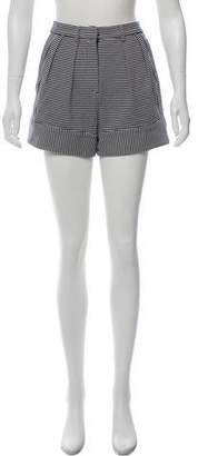 Araks Striped High-Rise Shorts