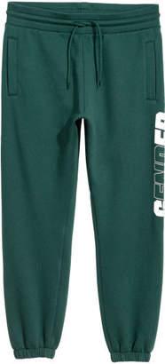 H&M Sweatpants with Printed Design - Green