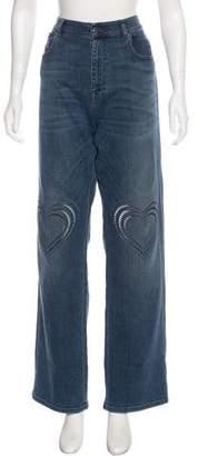 Christopher Kane Embellished High-Rise Jeans