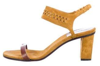 Carritz Suede Ankle Strap Sandals