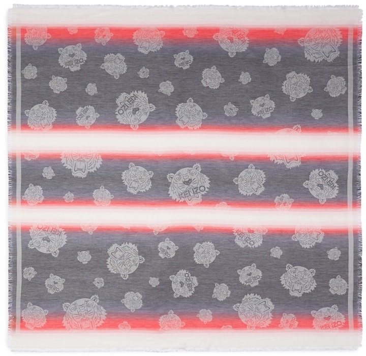 KenzoKENZO Tiger dégradé modal-cotton scarf