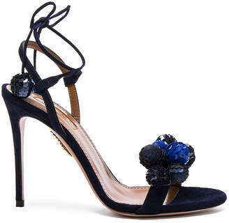 Aquazzura Disco Thing Suede Heels