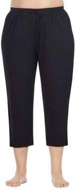 DKNY Plus Drawstring Capri Pants