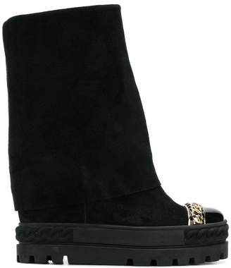 Casadei Chaucer chain-trimmed boots