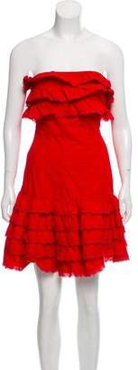 Alberta Ferretti Strapless Bustier Dress