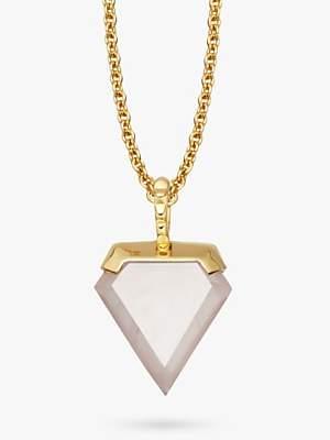 Missoma 18ct Gold Vermeil Rose Quartz Mini Shield Necklace, Gold