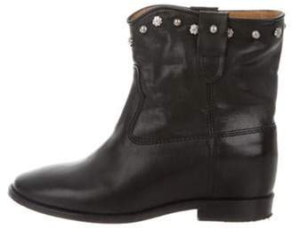 Isabel Marant Leather Ankle Boots Black Leather Ankle Boots