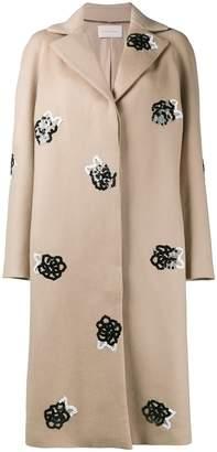 Christopher Kane sequinned wool raglan coat