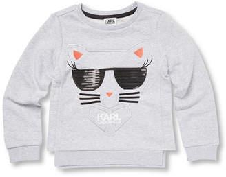 Karl Lagerfeld Graphic Embroidery Sweatshirt