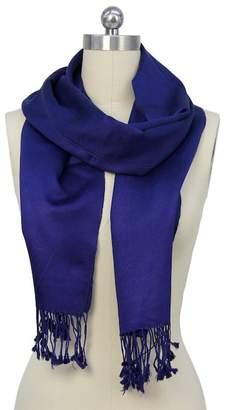 Saachi Blue Cashmere & Silk Scarf