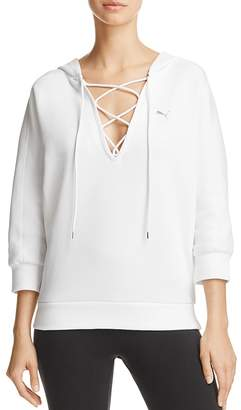 PUMA Yogini Lace-Up Hoodie - 100% Exclusive $55 thestylecure.com