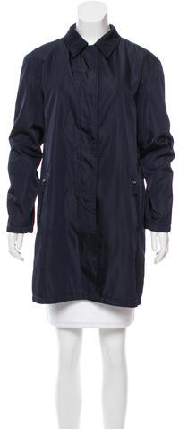 prada Prada Lightweight Knee-Length Coat+
