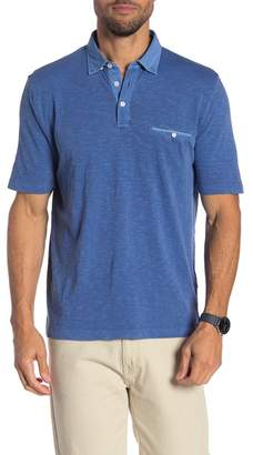 Thomas Dean Solid Short Sleeve Polo