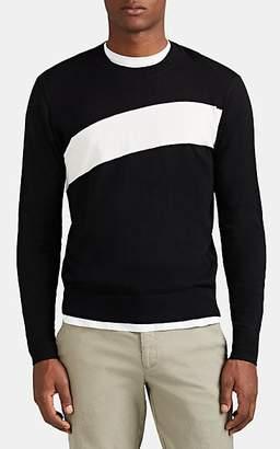 ATM Anthony Thomas Melillo Men's Striped Cotton-Blend Sweater - Black