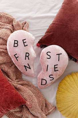 Best Friends Heart Velvet Pillow Set