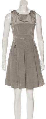 Pink Tartan Metallic Mini Dress