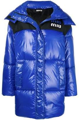 Miu Miu (ミュウミュウ) - Miu Miu フーデッド ダウンコート