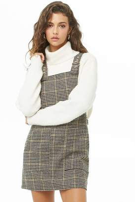 Forever 21 Glen Plaid Overall Dress