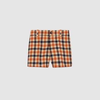 Gucci Children's check wool short pant