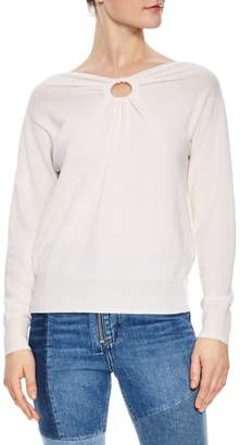 Sandro Keyhole Wool & Cashmere Sweater