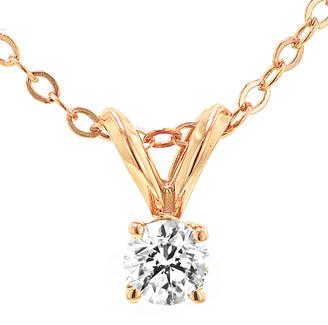 Diamond Select Cuts 14K Rose Gold 0.20 Ct. Tw. Diamond Necklace