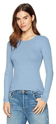 Three Dots Women's Viscose Rib mid Tight Shirt
