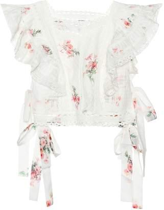 Zimmermann Heathers Pintuck cotton top
