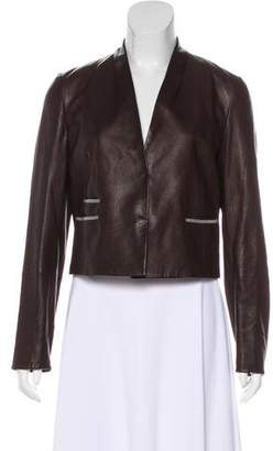 Brunello Cucinelli Embellished Leather Jacket w/ Tags