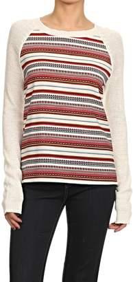 THML Clothing Striped Raglan Top