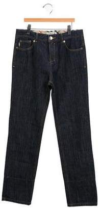 Burberry Girls' High-Rise Straight-Leg Jeans w/ Tags