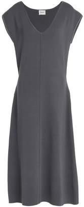 Charli Vedene Tie-Front Stretch-Knit Midi Dress