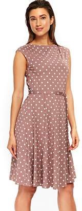 Wallis - Taupe Midi Jersey Fit And Flare Dress