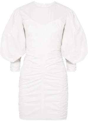 Isabel Marant May Ruched Cotton Mini Dress - White