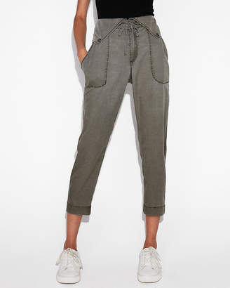 Express High Waisted Snap Front Soft Jogger Pant