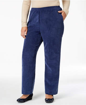 8d03a502332 at Macy s · Alfred Dunner Plus Size Classics Corduroy Pull-On Pants