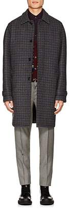 Prada Men's Checked Wool Four-Button Car Coat